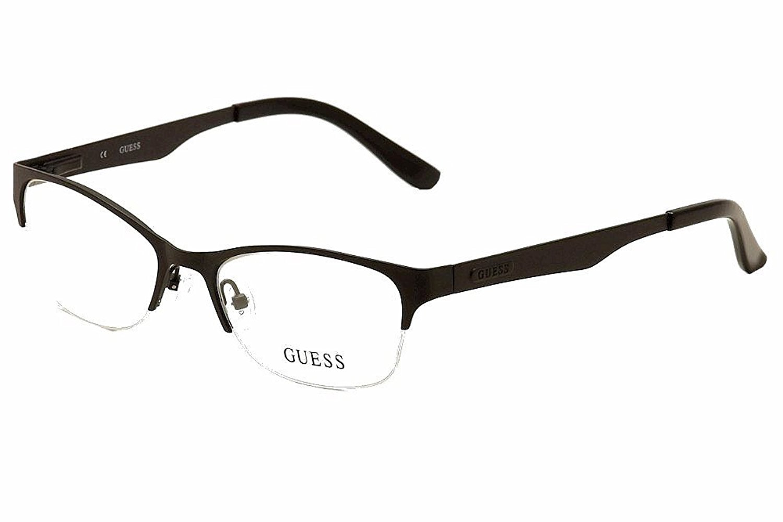 9c35576fcf8 Guess Women s Eyeglasses GU2469 GU 2463 BLK Satin Black Semi Rim Optical  Frame 52mm