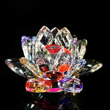 2017 Arabic Islamic Wedding Favor Ornaments Crystal flowers Gifts Crafts Home decoration Crystal Glass Lotus Flower