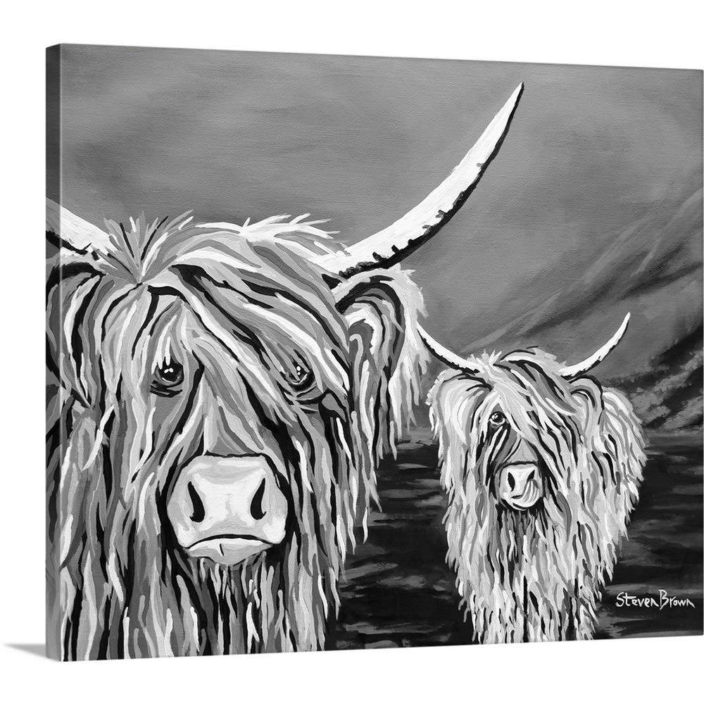"""GREATBIGCANVAS Gallery-Wrapped Canvas Entitled Rab and Isa McCoo The NOO by Steven Brown 30""""x25"""""""