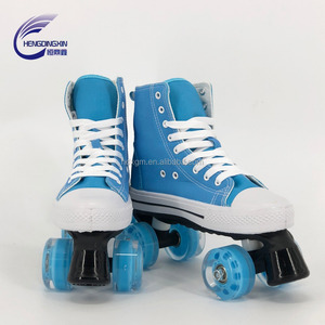 2018 high quality roller skates 4 wheels shoes traditional canvas artistic skates