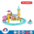 china produced plastic material kids play set electric toy train with high quality