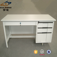 Height Adjustable Office Table with 4 Lockable Storage Drawer