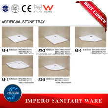 High quality and Best price for bathroom shower room acrylic tray and stone base