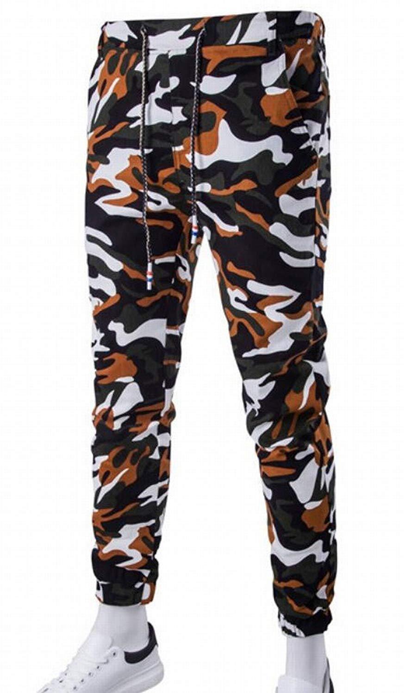 KLJR Mens Camouflage Jogging Harem Sweatpants Camo Cargo Pants