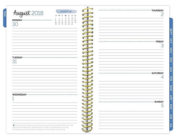 Calendario Semanal.Personalizada De Fabrica Espiral Planificador De Ano Academico 2018 2019 Planificador Mensual Calendario Semanal Inspirador De Fecha Del
