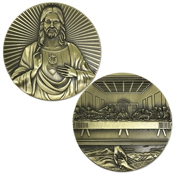 Customized Christmas History Last Supper Jesus Challenge Coin