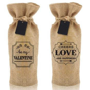 Drawstring Wine Bag Burlap Gift