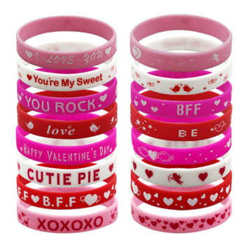 High Quality Wholesale Party Favors Bulk Cheap Silicone Wristbands Custom Bracelets