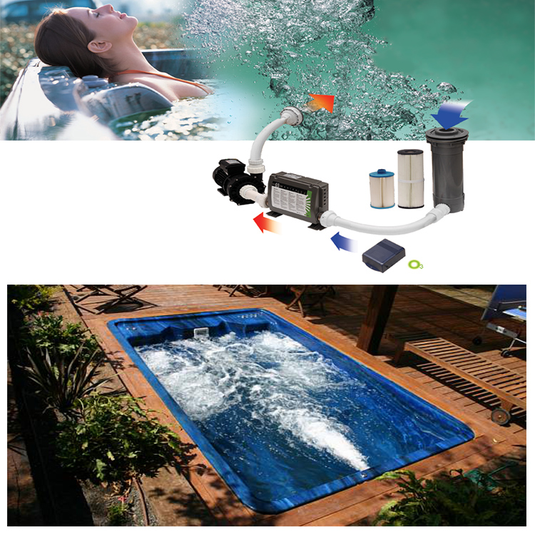 Long Swim Swimspa whirlpool hot tub Used Outdoor Swimming Spa Pool