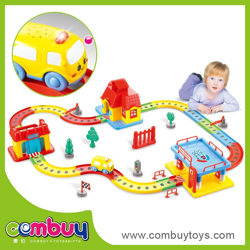 Top Sale Self Assemble Toys Plastic Cartoon Mini Train for Kids