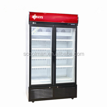 Clear Glass Door Commercial Refrigerator For Cold Drink And Juice