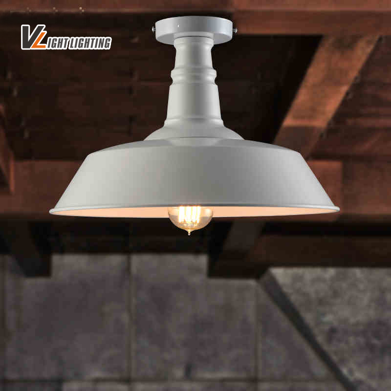 vintage loft metal lampshade edison ceiling lamp lights retro lustre shade ceiling lampe fixture. Black Bedroom Furniture Sets. Home Design Ideas