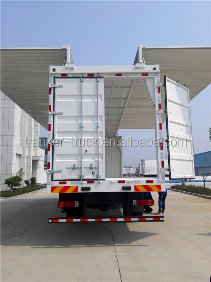 High quality opening wing container trailer tri axles van type wing container semi trailer for sale