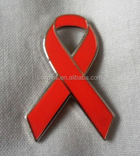 HIV <span class=keywords><strong>Aids</strong></span> Awareness red ribbon esmalte emblema do <span class=keywords><strong>pino</strong></span>/lapela