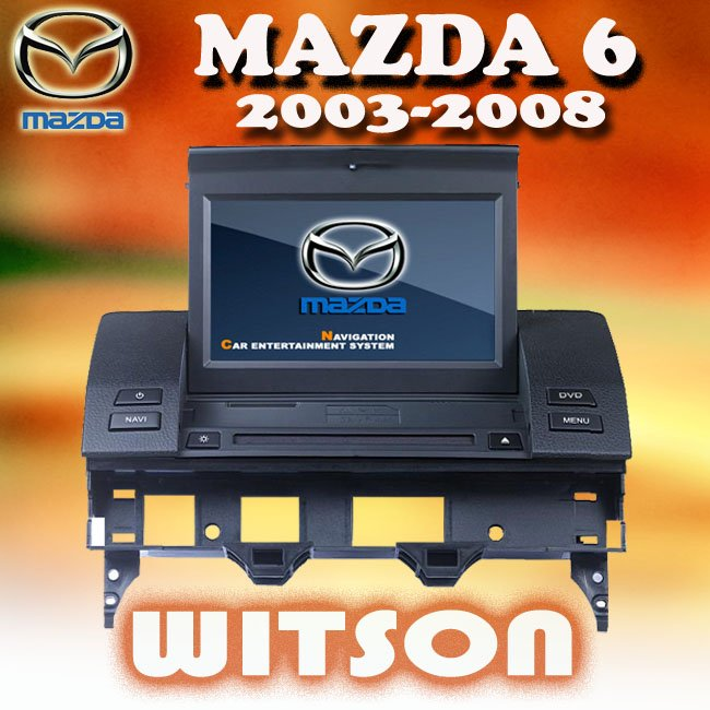 WITSON For MAZDA 6/WAGON/SPORT SEDAN/WAGON (2003-2008) mazda 6 Car DVD