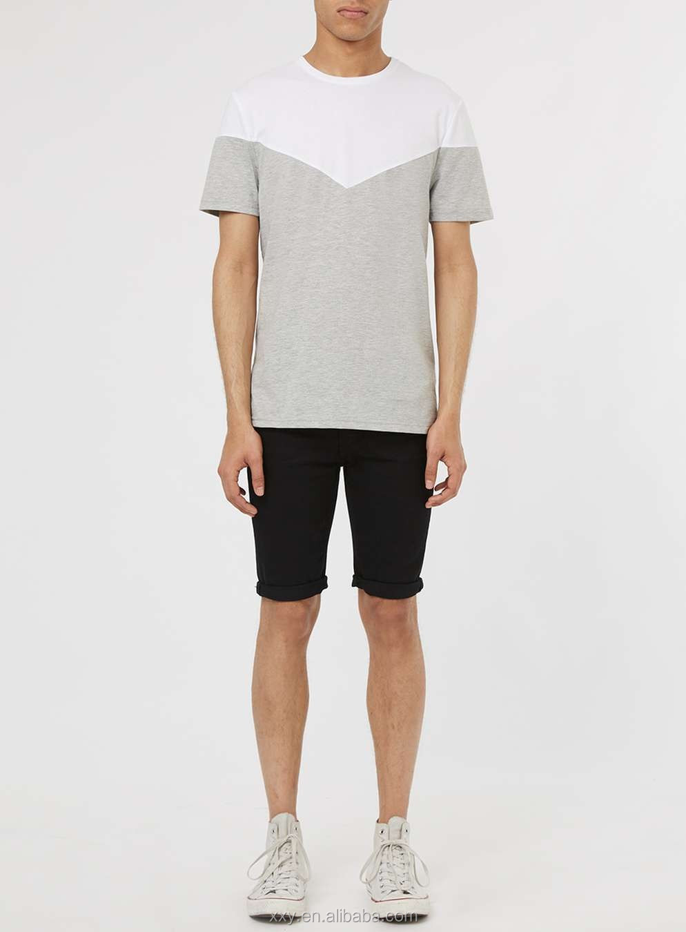 Plain T Shirts For Printing Cheap Wholesale Two Toned Bulk Blank T