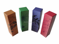 Cardboard perfume bottle packaging box with custom logo and pattern