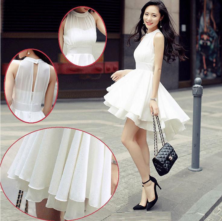 Summer Special Korean Dress Short Party White Black ...
