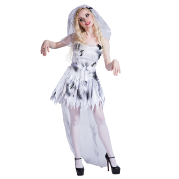 Halloween Party Cosplay Fancy Dress Zombie Corpse Bride Costume For Adult  Women Girls , Buy Corpse Bride Costume,Halloween Bride Costume,Zombie