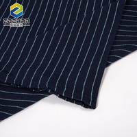 Single Jersey Stripe Undershirt Cloth Plain Woven Cotton Fabric