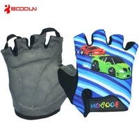 Funny kids protective gloves,child bicycle gloves,cartoon bike bicycle cycling gloves