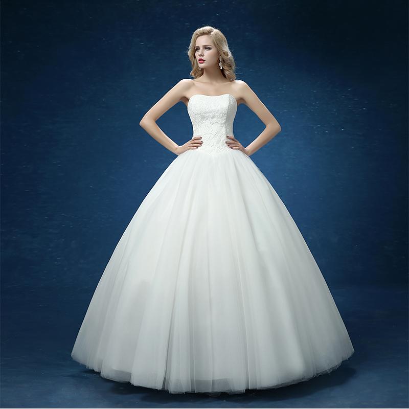 Cheap Ball Gown Wedding Dresses: Custom Made Wedding Dresses 2016 Cheap Celebrity Strapless