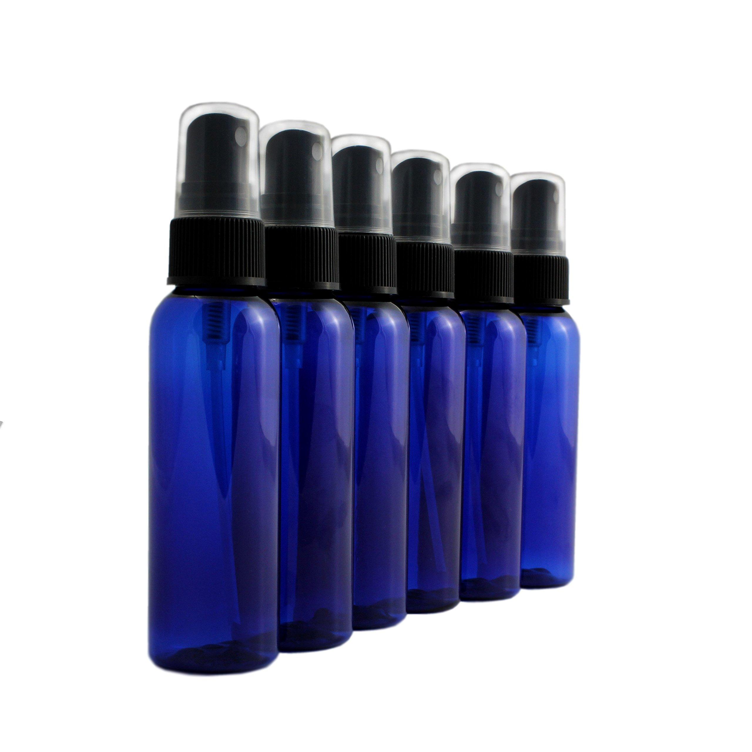 5a7e16686348 Buy 6 x 2oz New & Empty DIY Cobalt Blue Glass Jars with White Metal ...