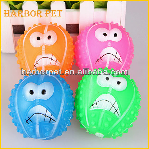 Vinyl Squeaky Pet Toy Big Mouth Ball