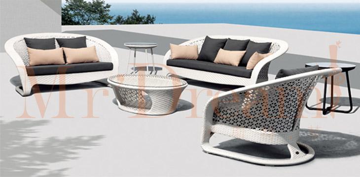 Waterproof Factory Custom Hotel Project Outdoor Wicker Furniture Sofa Set