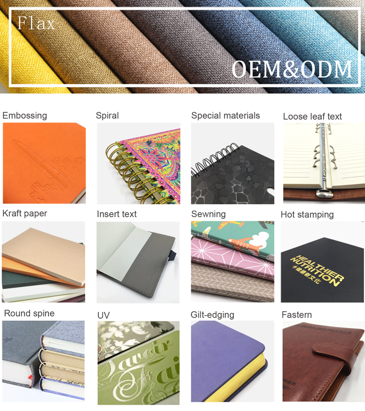 hot sales  tom hardcover pu leather notebook stationery