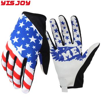 2018 Custom Full Finger Cycling Mtb Gloves With American Flag Design For  Motocross Climbing Hiking - Buy Full Finger Cycling Gloves,Custom Full  Finger