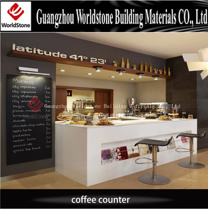 2017 new coffee shop decoration led coffee shop counter design - Marble Cafe Decoration