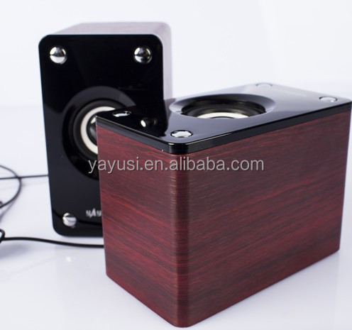 USB powered 2.0 wooden speaker for computer