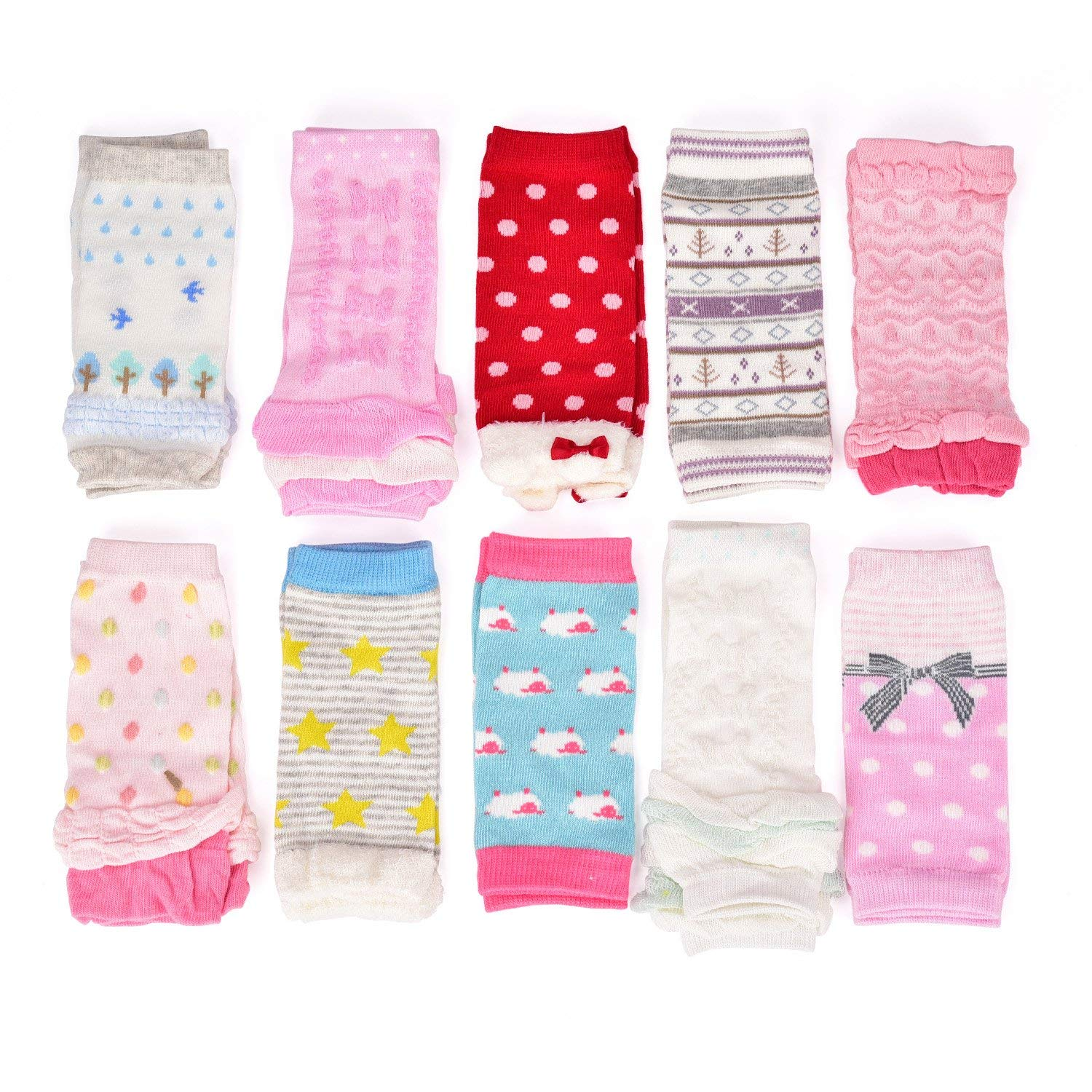 6 Pairs Toddler Boys Leg Warmers Baby Boy Leggings Knee Pads Size 0-6 Months 6-24 Months
