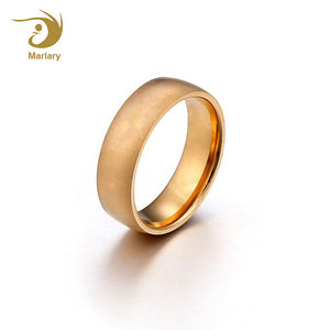 Marlary Wholesale Fashion Stainless Steel 18K Rose Gold Plated Blank Women Ring