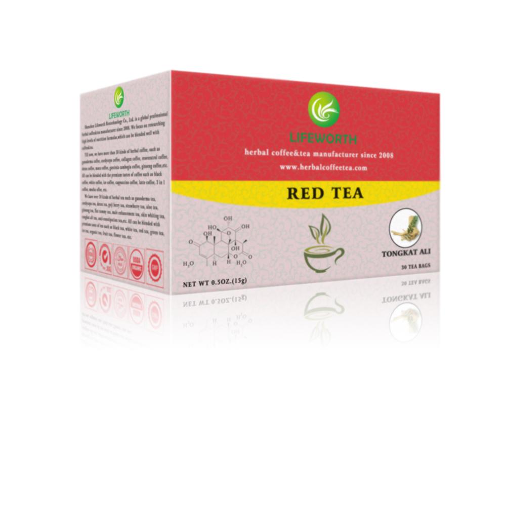 Lifeworth organic herbal red tea bags with Tongkat Ali - 4uTea | 4uTea.com