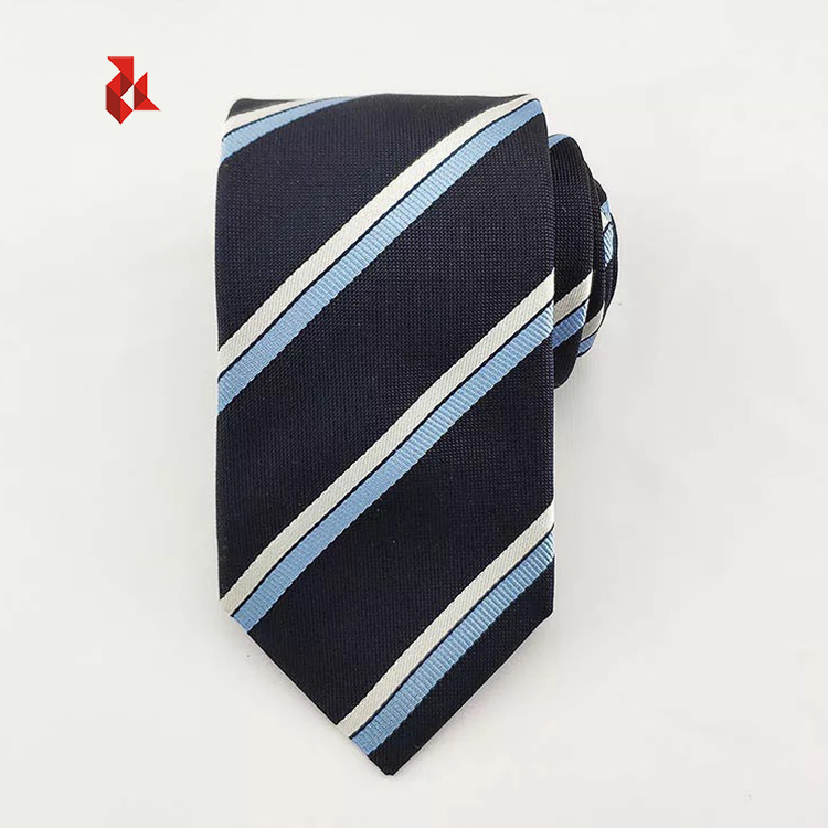 100% Silk Woven Tie Fashion Red Stripe Ties Men for Wholesale