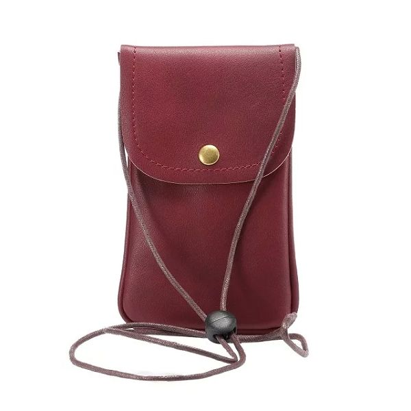 New Fashion Cell Phone Shoulder Strap Bag, Leather Case Cover for 5.7 Inch Mobile Phone