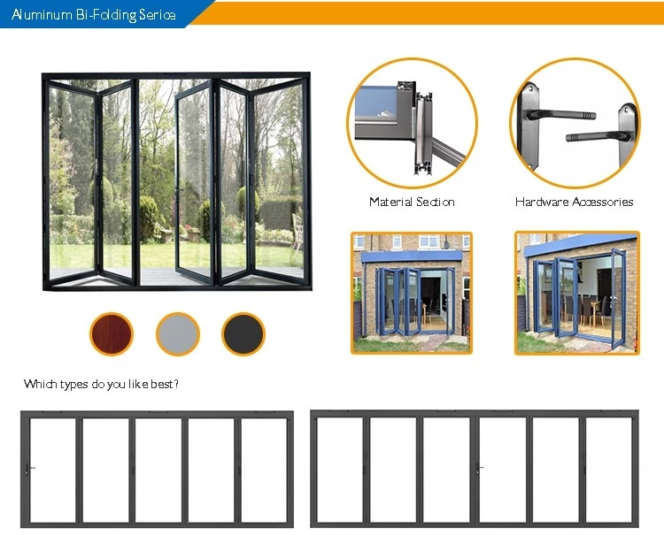 Thermal Break Aluminum Customized Wood Color Casement Window