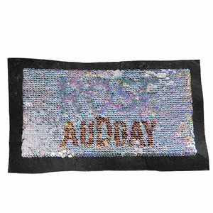 Reversible Change Color Sequin Iron on Letter Patches for DIY T-Shirt