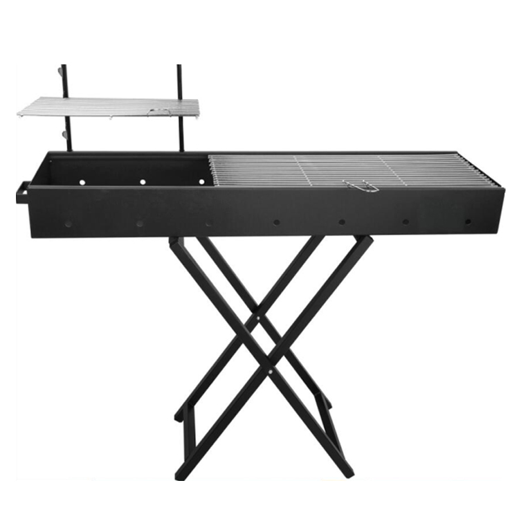 High Quality rectangle Height adjustable Charcoal BBQ Grill foldable barbecue grill