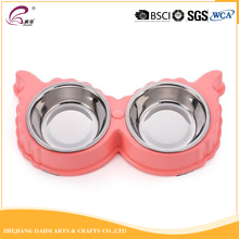 Double use stainless steel cartoon dog bowl for travel