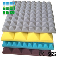 Acoustic Foam Panels Flame resistance acoustic foam Interior Decorative Public Product Pyramid Muffler Foam