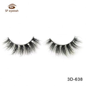 Oem Short Custom Brand Length Natural 3D Mink False Eyelashes
