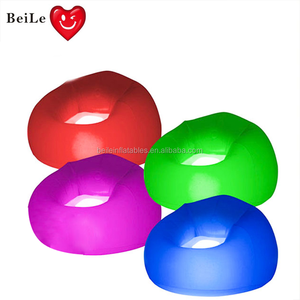 Funiture sofa home round inflatable Led light sofa chair