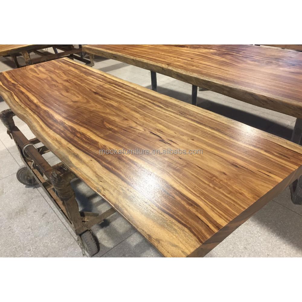 Big Zingana Wood Table Top In Natural Color Live Edge Wood Slabs - Buy Live  Edge Wood Slabs,Live Edge Wood Slab Tables,Wood Slab Product on