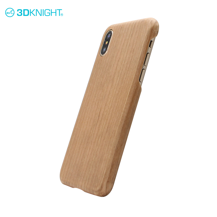 Custom real carbon cell phone case for iphone X wood backcover