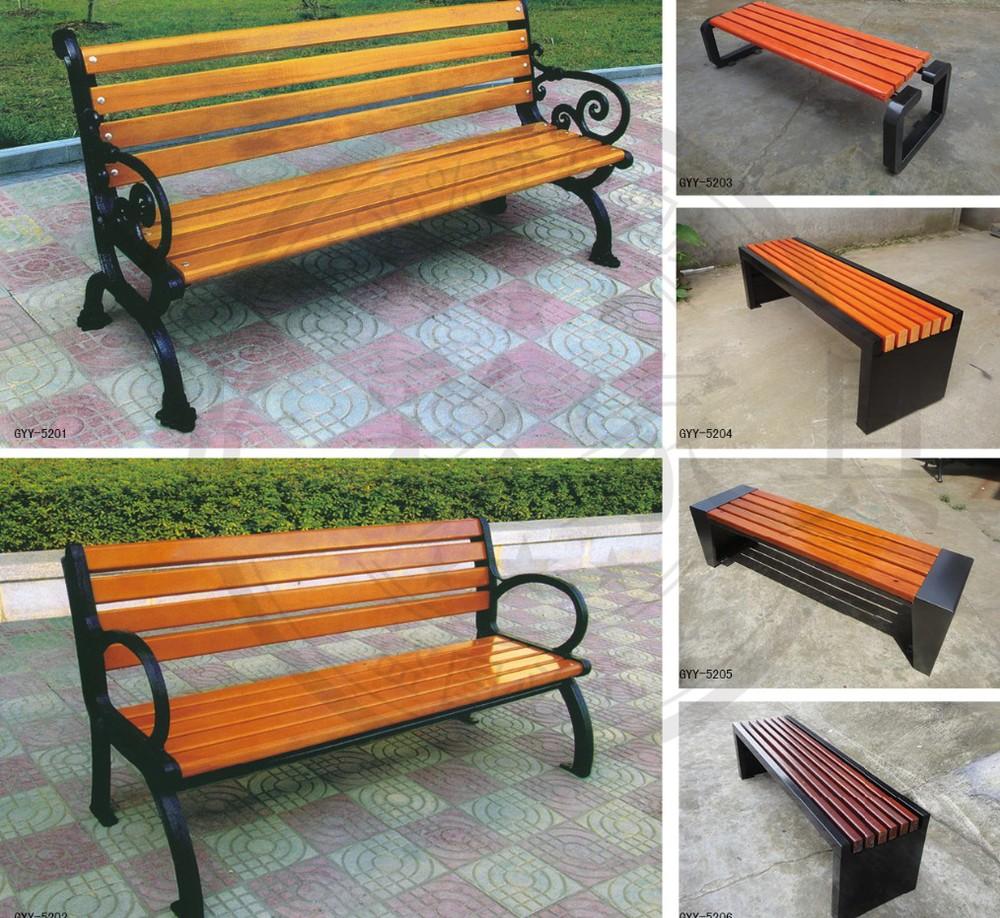 Outdoor furniture garden bench commercial metal outdoor furniture - Public Service Commercial Wooden Garden Bench Chair