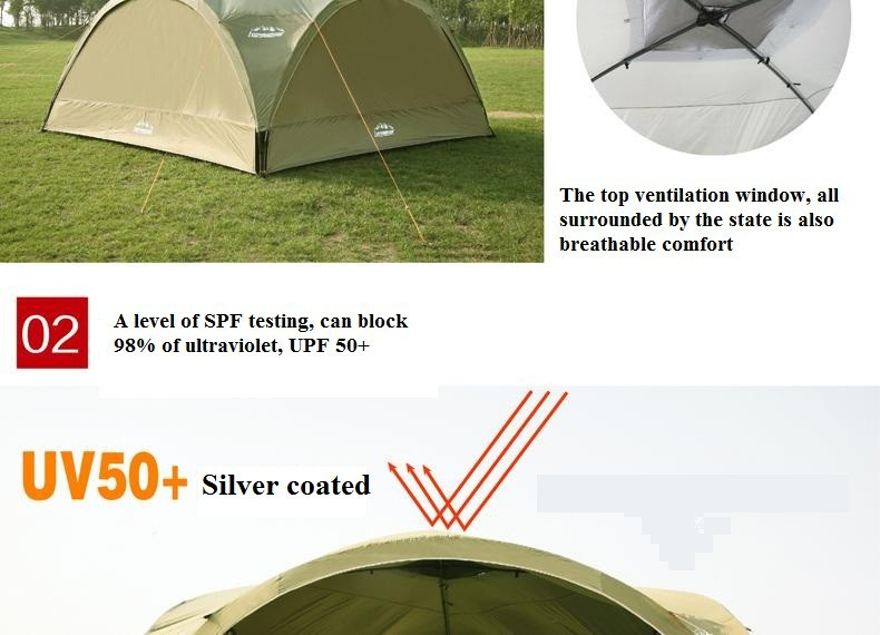 Summer Outdoor Super Large Camping Tent Canopy Tent Awning Advertising Tents Pergola Beach Tent Ultralarge Anti Uv Gazebo