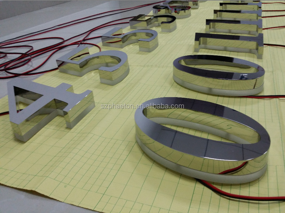 Outdoor Programmable Led Backlit House Number Signs, led number sign
